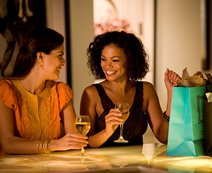 Enjoying the nicer things in life, wine and shopping. Photo courtesy of Celebrity Cruises.