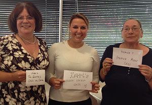 Chili Cook-Off Contenders: Judi, Kerri and Viviane