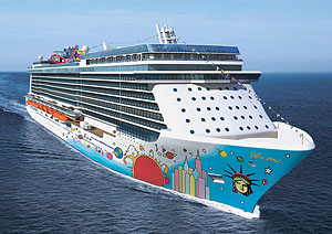A rendering of Norwegian's Breakaway - courtesy of Norwegian Cruise Line.