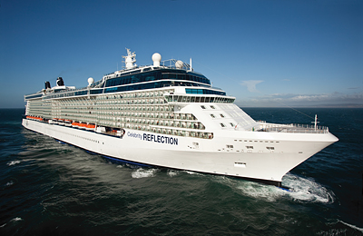 An exterior image of the Celebrity Reflection. Photo courtesy of Celebrity Cruises