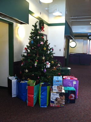 The Cruise Web delivered gifts to families receiving services from College Park Youth & Family Services