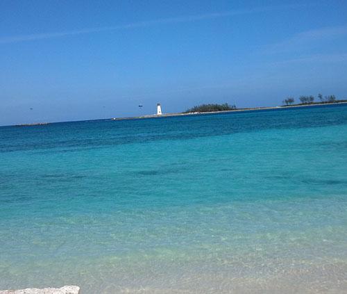 Bahamas has beautiful water.