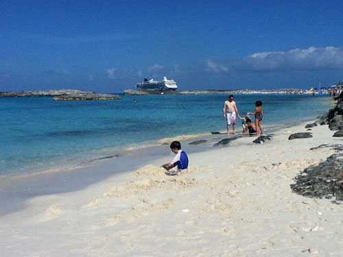Beach time on Great Stirrup Cay.