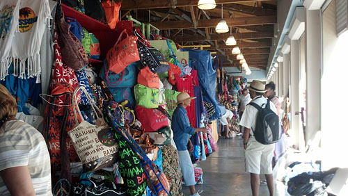 The Straw Market sells an array of colorful hand made knick knacks.
