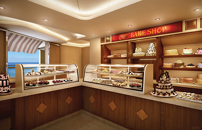 Photo rendering of Carlo's Bake Shop onboard the Breakaway - Photo courtesy of Norwegian Cruise Line