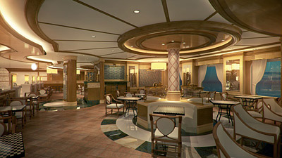 A rendering of Alfredo's Pizzeria on the Royal Princess - Courtesy of Princess Cruises