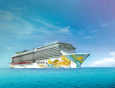 A rendering of the Getaway - Courtesy of Norwegian Cruise Line