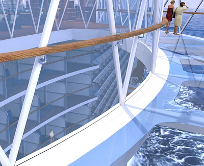 SeaWalk rendering - Courtesy of Princess Cruises