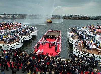 2013 Christening 6 New Ships - Photo courtesy of Viking River Cruises