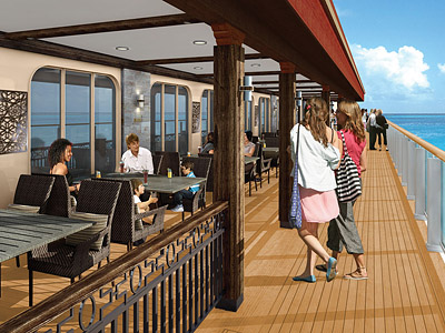 A rendering of Cagney's Steakhouse from the Waterfront - Photo courtesy of Norwegian Cruise Line