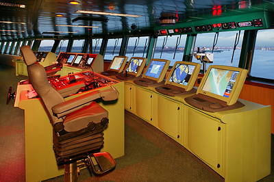 The Bridge of the Queen Mary 2 - Photo courtesy of Cunard Line
