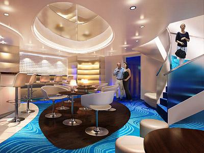 Rendering of the Studio Lounge on the Breakaway - Photo courtesy of Norwegian Cruise Line