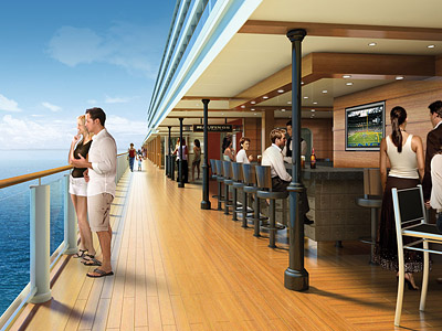 Rendering of the Waterfront - Photo courtesy of Norwegian Cruise Line