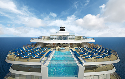 Rendering of the infinity pool on the Viking Star - Photo courtesy Viking Cruises