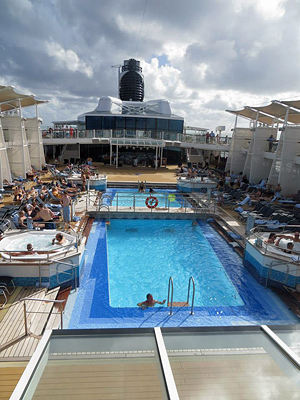 Celebrity Reflection pool deck