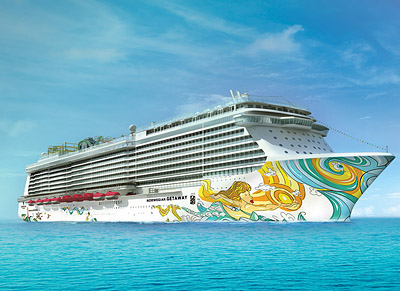 Getaway Hull Rendering - Photo courtesy of Norwegian Cruise Line