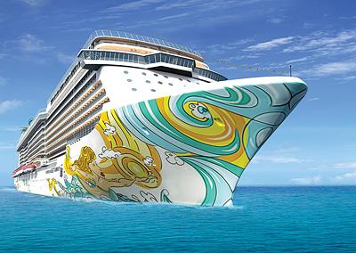 Rendering of the Norwegian Getaway - Photo courtesy Norwegian Cruise Line