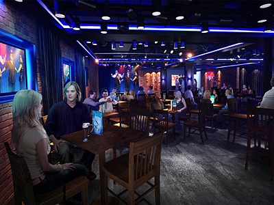 Rendering of the Headliners Comedy Club - Photo courtesy of Norwegian Cruise Line