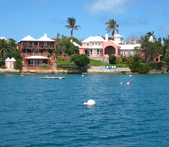Pink Mansions in Bermuda