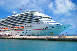Carnival Splendor in King's Wharf, Bermuda