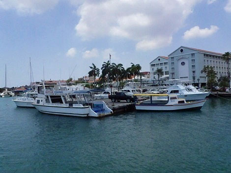 Aruba is a popular place for boaters.