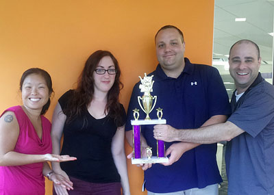 The Cruise Web took 3rd place at the Bowling tournament.