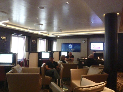 Norwegian Breakaway's Connect Internet Cafe