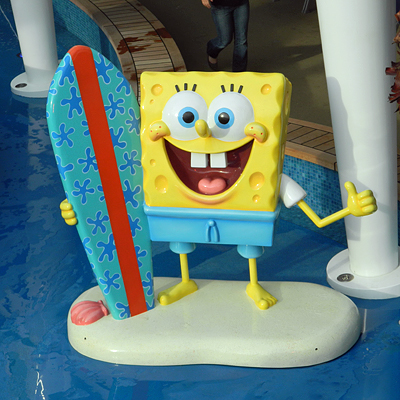 SpongeBob SquarePants welcomes kids on the Norwegian Breakaway.