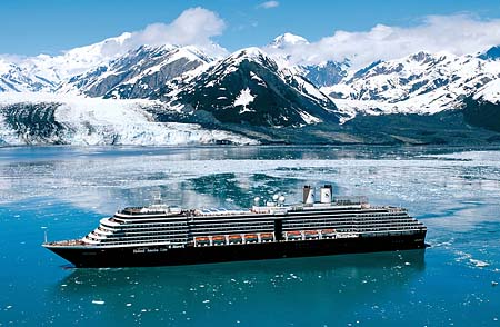 ms Oosterdam in Alaska. Photo courtesy Holland America Line.