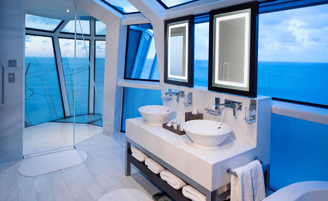Celebrity Cruises' Reflection Suite Bath