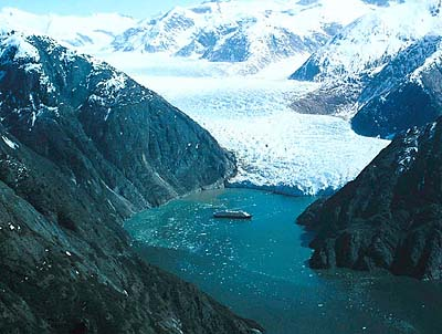 Tracy Arm. Photo courtesy of Holland America Line.