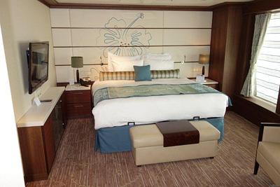 A new suite on the Pride of America. Photo courtesy of Norwegian Cruise Line.