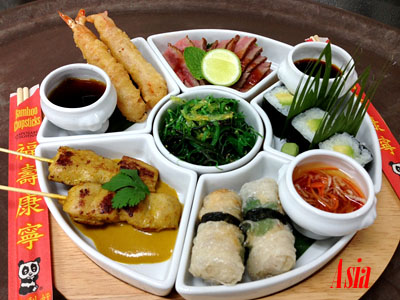 Asia Taste Plate - Photo courtesy of Oceania Cruises.