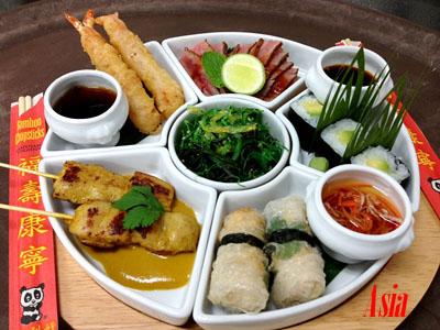 Asia Taste Plate - Photo courtesy of Oceania Cruises.