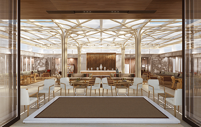 A rendering of the Wintergarden, a new feature on the upcoming Viking Star. Photo courtesy of Viking Cruises.
