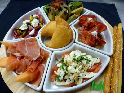 Italy Taste Plate - Photo courtesy of Oceania Cruises.