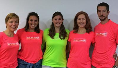 The Cruise Web's relay team with half-marathoner Sammie in green.