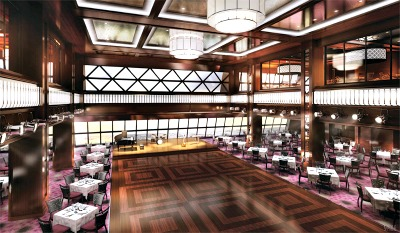A rendering of the Tropicana Room. Photo courtesy of Norwegian Cruise Line.