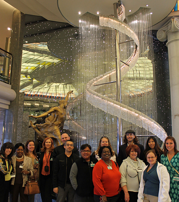 The Cruise Web team tours the Crystal Symphony