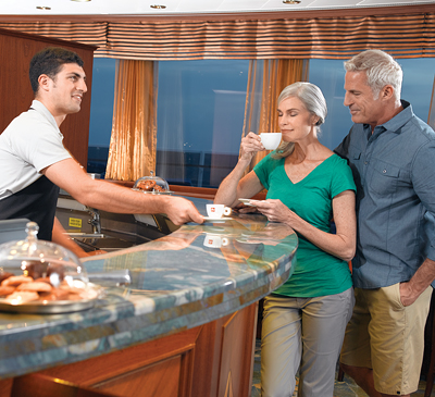 Baristas. Photo courtesy of Oceania Cruises.
