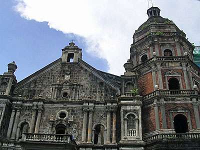 One of the many churches in the Philippines .