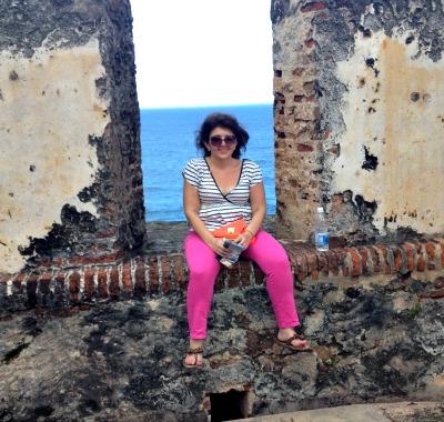 Erica at Fort Morro in San Juan.
