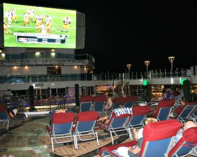 Monday Night Football on Princess Cruises. Photo courtesy of Princess Cruises.