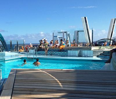 Pool Deck on the MSC Divina.