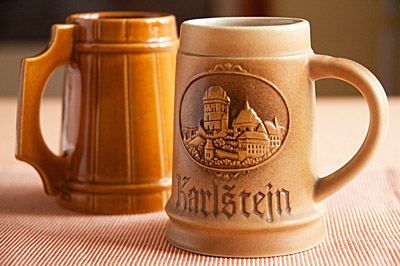Beer steins from Germany.