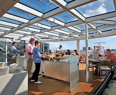 The Aquavit Terrace on the new Viking Longships. Photo courtesy of Viking River Cruises.