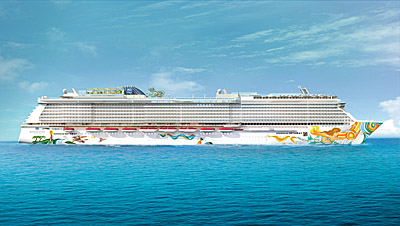 A rendering of the Norwegian Getaway. Rendering courtesy of Norwegian Cruise Line.