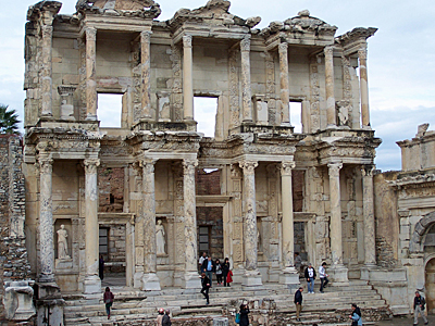 The library in Ephesus.