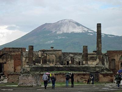 Mt. Vesuvius from Pompeii.