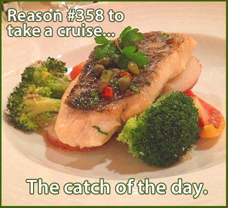Reason #358 to take a cruise .... The catch of the day.